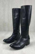 Frye Melissa Button Back Zip Black Leather Knee High Boots New Women's Size 6