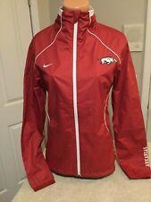 "NIKE Storm-Fit Arkansas Razorbacks Red ""Tiny Squares"" Jacket. Size Small. NEW."