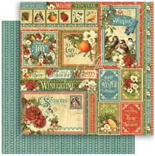 """Graphic 45 Seasons - WINTER COLLECTIVE - 12x12"""" Scrapbooking Paper"""