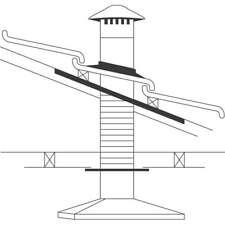 Abey 150mm Tiled Roof Rangehood Flue/Vent Kit RHVT6