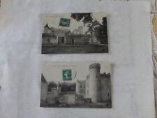 lot 2 carte postale cpa  ARLANC  Chateau de MONS l'entrée + vue d'ensemble