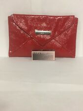 Mary Kay Red Leather Like Make Up Bag And Clip-on-Gloss .06 Oz