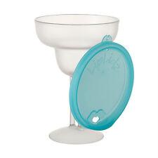 LipLidz Margarita Glass, Aqua Lid, Single Glass, BPA Free, 13.5 ounces