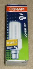 Osram Dulux el Longlife Lámpara Ahorro De Energía 15 W B22d Blanco Cálido Hecho en Alemania