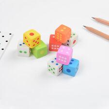 3pcs/pack Novelty Dice Shape Eraser Cleaner Stationery Supply Color Random -