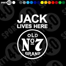 JACK LIVES HERE Sticker Decal Vinyl Jack Daniels Old Brand No.7 3304-0219