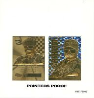 1999 EARNHARDT SR *STARS* 23K GOLD CARD PRINTERS PROOF