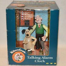 VTG Wallace & Gromit Talking Alarm Clock GNA Cartoon Snooze Original Box British