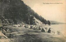 Newfound Lake NH~Dirt Road Drive Around the Ledges~Boulder Shoulder~1947 Sepia