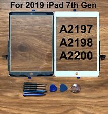 """Touch Screen Glass Replacement for iPad 2019 7th 10.2"""" A2197 A2198 A2200 - White"""