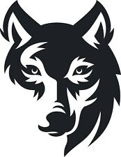 Wild Animal Wolf face decal vinyl sticker wall window vehicle display mural 001