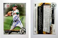 Nick Allen Signed 2017 Bowman Draft #BD107 Card Oakland Athletics Auto Autograph