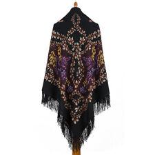 Pavlovo Posad shawl Russian Shawl with Fringe Scarf 120x120 cm