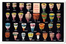 KREISEL / SPIN / TOUPIE * Fabrik M Hetze Seiffen Sachsen * Reklame-Karte um 1910