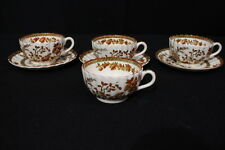 7pc Vintage Copeland Spode INDIAN TREE #2/959 Footed Cup & Saucer Set, England