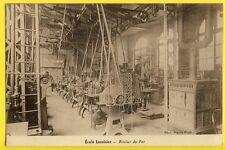 cpa 75 - PARIS ÈCOLE LAVOISIER vers 1920 ATELIER du FER Poële Photo Pierre PETIT
