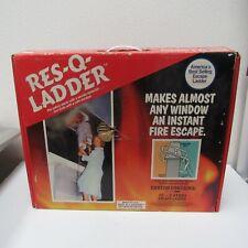 Vtg Res-Q-Ladder 15' 2 Story Escape Ladder Fire Escape Safety Ladder All Steel