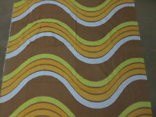 Retro Vintage Orange Yellow Brown And White Geometric Cotton Sheet Fabric..
