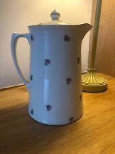 Vintage Crown Ducal Coffee Pot Lidded Jug Rose Decoration