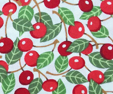 """Cotton Quilting Fabric Moda """"Recipe for Friendship"""" Bright Red Cherries BTY"""