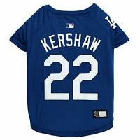 CLAYTON KERSHAW #22 LA Dodgers MLBPA Officially Licensed Dog Pet Tee Shirt