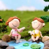 Happy Couple Bench DIY Mini Miniature Figurine Dollhouse Decor Micro Landscap_ti