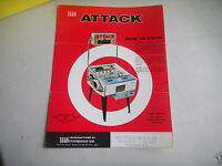 ATTACK   SEGA    ARCADE GAME  FLYER