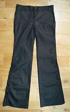 MALENE BIRGER Dark Charcoal Grey Black Cotton Bootcut Trousers Pants Jeans 29/34