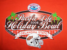 NCAA Oklahoma State University OSU Cowboys 2008 Holiday Bowl Orange T Shirt - M