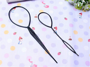 1Pair Pack of Topsy Hair Braid Pony Tail Maker Styling Tool Hair Pattern O  S oq