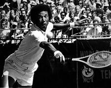 Pro Tennis Player Arthur Ashe Glossy 8x10 Photo Action Print Grand Slam Titles