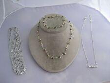 Estate Costume 6 Piece Silver & Gold Tone Sarah Coventry Avon Pastel Necklace