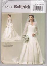 Butterick Sewing Pattern B5731 / BP249 Kate Middleton Style Wedding Dresses 6-14