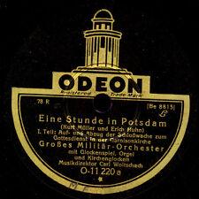 GR. MILITÄR-ORCHESTER CARL WOITSCHACH  Eine Stunde in Potsdam   78rpm   S9680