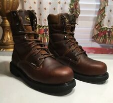95-Wolverine   Durashock  Brown leather waterproof Men Sz 8.5 M*NWOB*
