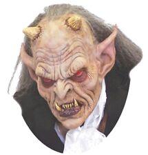 Demon Mask Exodus Latex Devil Red Eyes TA346 Horns Halloween Costume Evil Scary