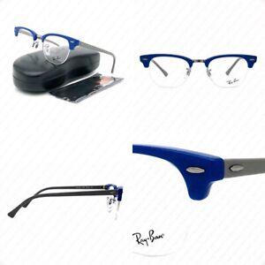 Ray Ban Clubmaster RX4354V 5903 Blue Gray w/Demo Lenses Eyeglasses 48-22-140mm