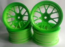 Rc Car 1/10 Drift Y Spoke Rims Wheels 9mm Offset fits Tamiya HPI Green 12mm hex
