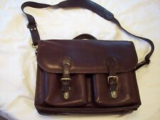 Ellington Dark Brown Rucksack Leather Cross Shoulder Messenger Bag 11.5 x 16 in.