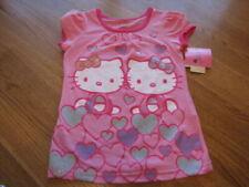 T-shirt rose Hello Kitty pour fille de 2 à 16 ans