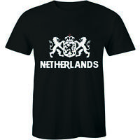 Netherlands Dutch Amsterdam Coat Of Arms Country National Flag Men's Tee T-shirt