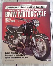 AUTHENTIC Restoration Guides BOOK BMW MOTORCYCLE Twins 1950-1969 SLABON REBUILD