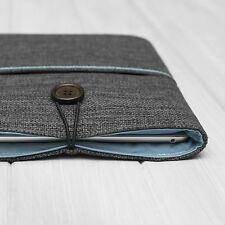 "Padded Cover Sleeve Pouch for iPad Pro 10.5"" Grey and Blue Cotton"