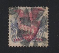 US #121 Used 30c Shield Eagle Flags Pictorial w/ APEX Cert - Unlisted Cancel