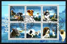 Chiens Guinée (33) série complète de 6 timbres oblitérés