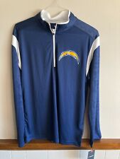 Fanatics NFL Chargers Apparel Men's Quarter Zip Pull Over Size Large