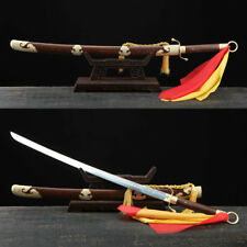 Chinese Rosewood Martial Art Sword Stainless Steel Tai Chi Kung Fu Practice 太极刀