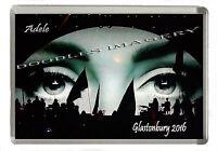 Glastonbury Festival  2016  Adele Fridge Magnet - JUMBO 90mm x 60mm Size