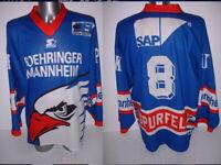 Adler Mannheim Starter XL Ice Hockey Shirt Jersey Trikot NHL Eis Germany Top