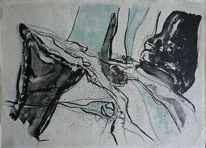 Renato Volpini litografia Elementi 1960 71x51 firmata numerata pubblicata
